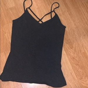 Dark Grey Sexy Tank Top M